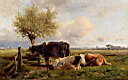 Oil painting reproduction of Resting Cows