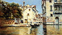 Oil painting reproduction of Venetian Canal Scenes Pic 1