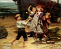 Oil painting reproduction of The Days Catch
