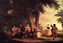 Oil painting reproduction of Durand Asher Brown The Dance Of The Battery In The Presence Of Peter Stuyvesant