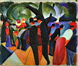 Oil painting reproduction of August Macke036