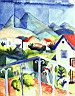 Oil painting reproduction of August Macke037