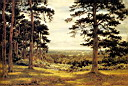 Oil painting reproduction of A Peep Through The Pines