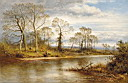 Oil painting reproduction of An English River in Autumn