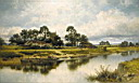 Oil painting reproduction of Severn Side Sabrina-s Stream at Kempsey on the River Severn