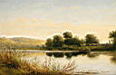Oil painting reproduction of Streatley on Thames