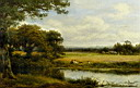 Oil painting reproduction of Surrey Cornfields