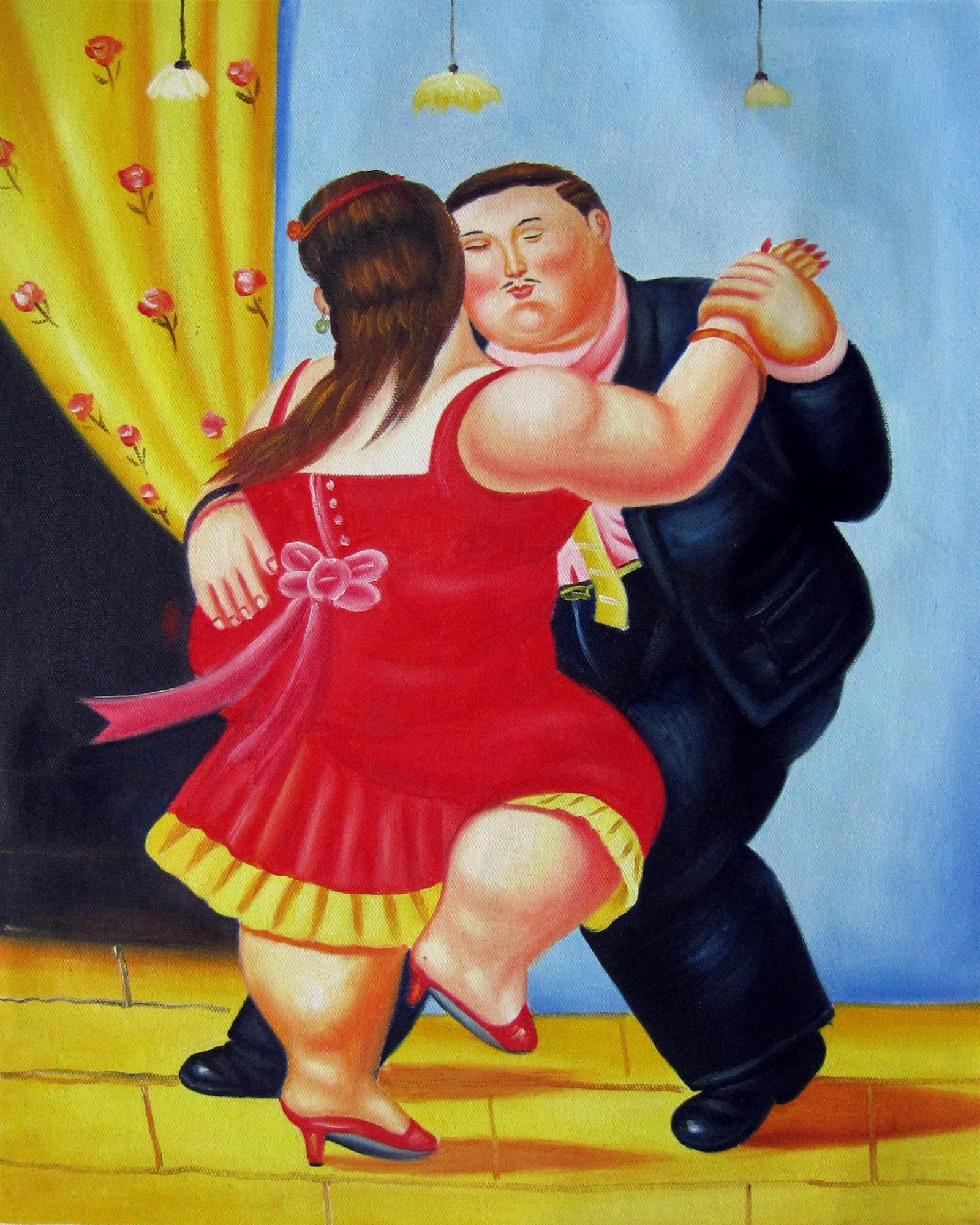 Rep. Fernando Botero 40 x 50cm étiré peinture huile toile art décoration  m042 | eBay